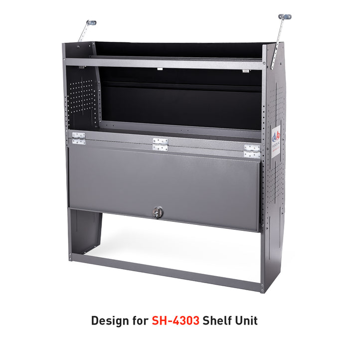 "AA Products Door Kit For SH-4303(32"" W * 43"" H) Shelf Unit Shelf Accessories Grey (P-SH-4303DK) - AA Products Inc"