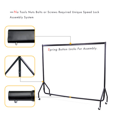 AA Products Heavy Duty Commercial Grade Garment Rack Clothes Coat Hanger Rolling Storage Rack (X1000)