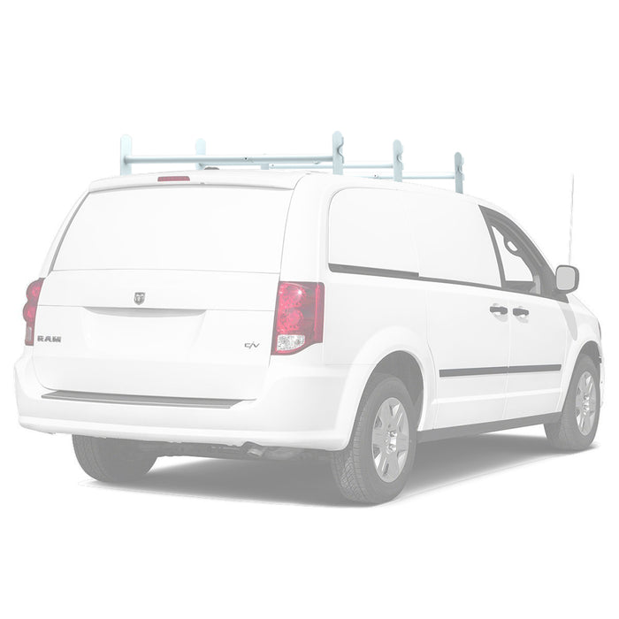 AA-Racks Universal Drilling Cargo Van Roof Rack Heavy-Duty Adjustable Steel Roof Ladder Rack (DX36) - AA Products Inc