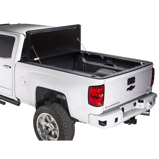 AA Products Ultra Flex Hard Folding Truck Bed Tonneau Cover Works with 2014-2018 Silverado/Sierra 1500, 2019 Silverado Legacy/Sierra Limited | Fits 5.8' Bed 6.5' Bed (TC-HF-CS/GS1500(14-19) - AA Products Inc