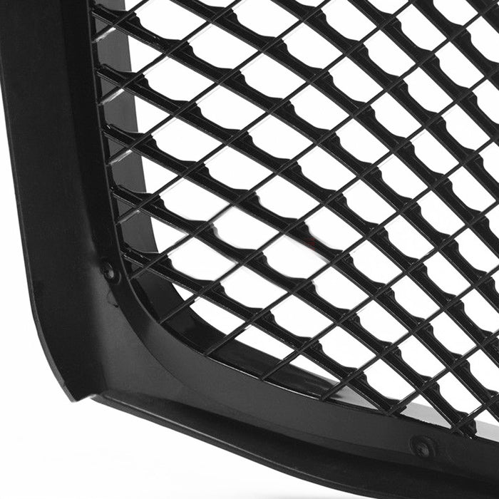 AA Products 1999-2004 Ford Super Duty F250 F350 F450 F550 Luxury Sport Mesh ABS Replacement Front Grille with Shell Gloss Black (FG-F250(99-04)-02-BLK) - AA Products Inc