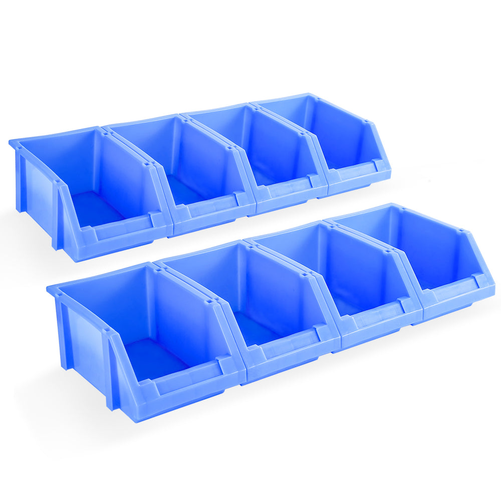 "AA Products Plastic Storage Stacking Bin For SH-4605(52"" W * 46"" H) Shelf Unit Shelf Accessories, 10-Inch by 6.2-Inch by 4.5-Inch, Blue, Case of 8 (P-SH-8PB) - AA Products Inc"