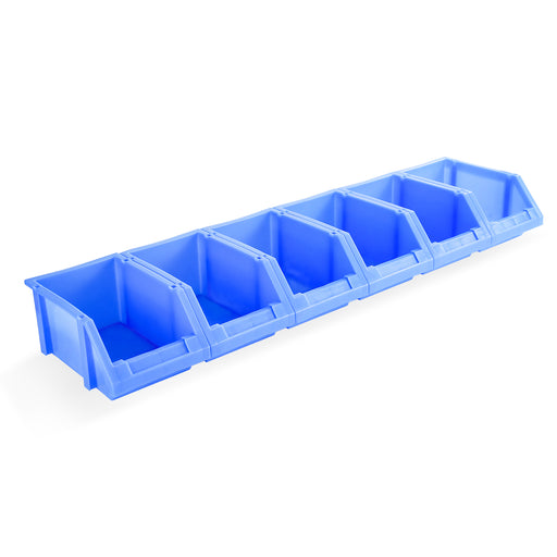"AA Products Plastic Storage Stacking Bin For SH-4604(42"" W * 46"" H) Shelf Unit Shelf Accessories, 10-Inch by 6.2-Inch by 4.5-Inch, Blue, Case of 6 (P-SH-6PB) - AA Products Inc"