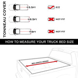 AA Products Truck Bed Tonneau Cover Works with 2009-2014 Ford F-150 (Excl. Raptor Series) | Fits 5.5' Bed (TC-F150-5.5(09-14)) - AA Products Inc