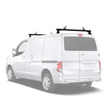 "AA-Racks Aluminum Cargo Van Roof Rack 50""/ 60'' with Load Stop Black/ White (Fits: Chevy City Express 2013-On) (AX302-CH)"