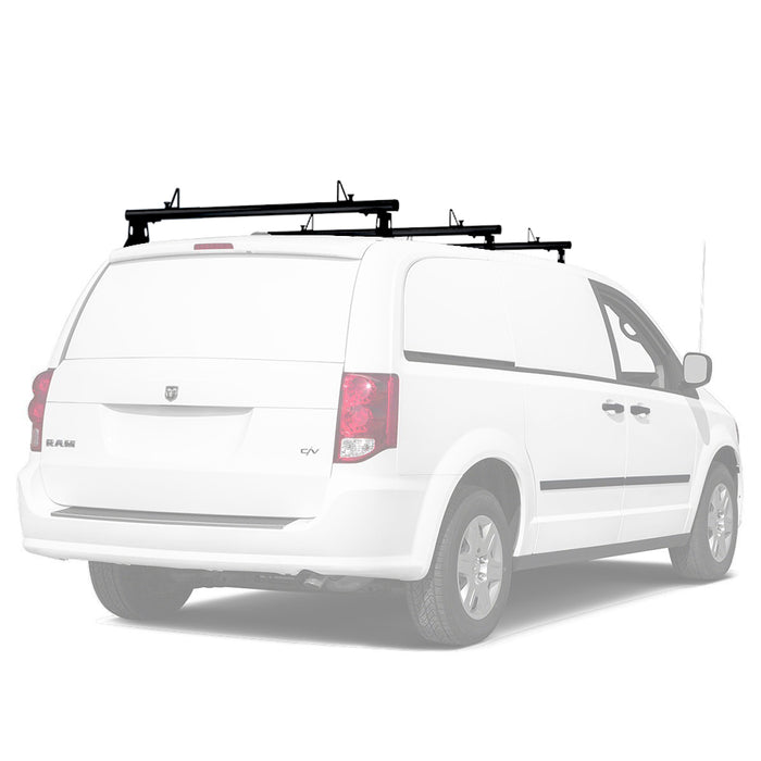 AA-Racks Universal Minivan Aluminum 50''/ 60''' Drilling Van Roof Rack with Load Stops - Black/ White (ADX32-50/60) - AA Products Inc