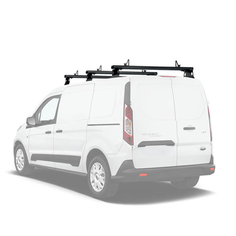 AA-Racks Model AX302-TR Transit Connect 2014-Newer Aluminum Van Roof Rack System With Ladder Stopper (AX302-50/60-TR-Parent)