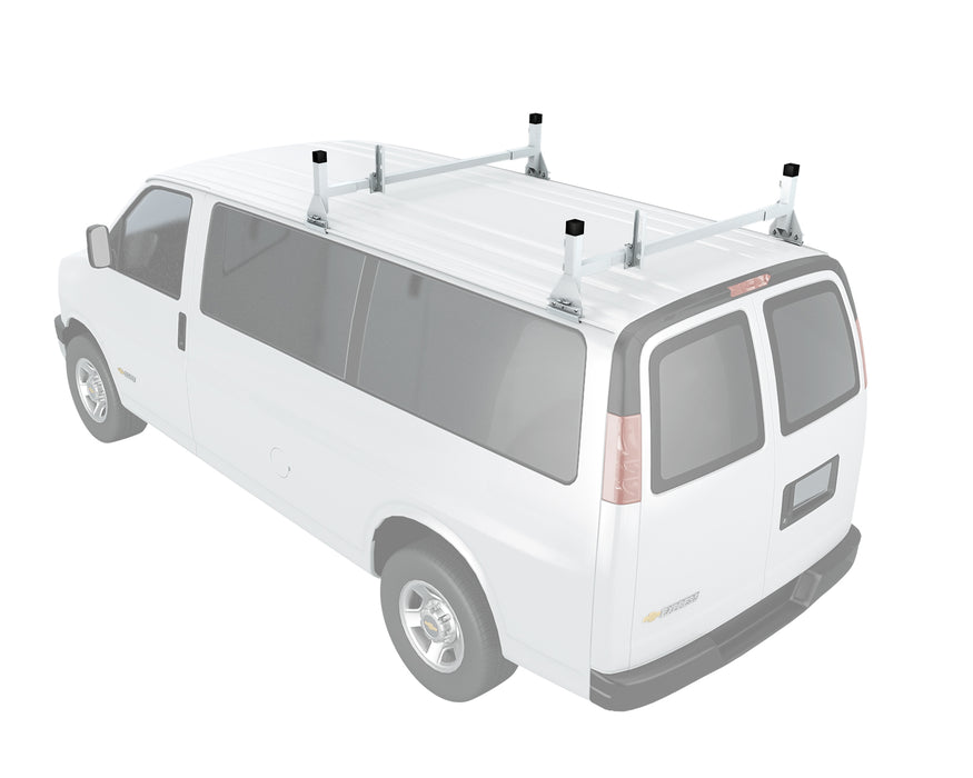 AA-Racks  Universal Aluminum Van Roof Rack Rain Gutter Mount Rooftop Cargo Carrier Racks - (AX27) - AA Products Inc