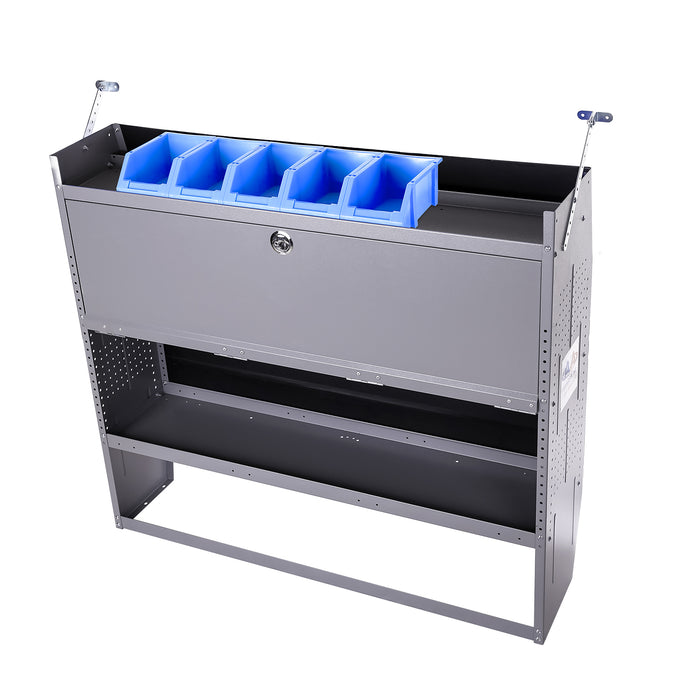 "AA Products Plastic Storage Stacking Bin For SH-4603(32"" W * 46"" H) Shelf Unit Shelf Accessories, 10-Inch by 6.2-Inch by 4.5-Inch, Case of 5 (P-SH-5PB-46) - AA Products Inc"