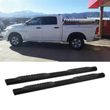"AA Products Fit 2009-2018 Dodge Ram 1500 & 2010-2018 Dodge Ram 2500/3500 Crew Cab Pickup 4"" Oval Side Step Rails Nerf Bars Running Boards (RB-RAM-CC(09-18)-C)"