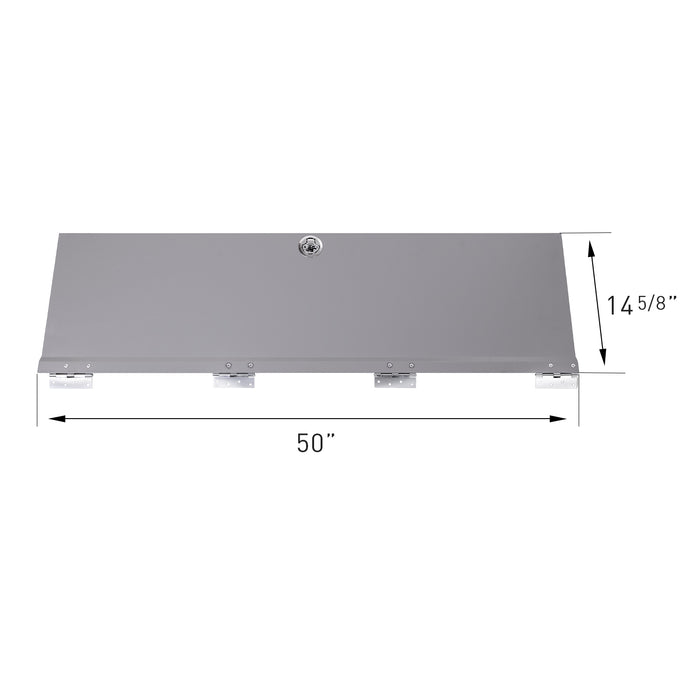"AA Products Door Kit For SH-4605(52"" W * 46"" H) Shelf Unit Shelf Accessories Grey (P-SH-4605DK) - AA Products Inc"