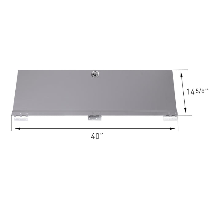 "AA Products Door Kit For SH-4604(42"" W * 46"" H) Shelf Unit Shelf Accessories Grey (P-SH-4604DK) - AA Products Inc"