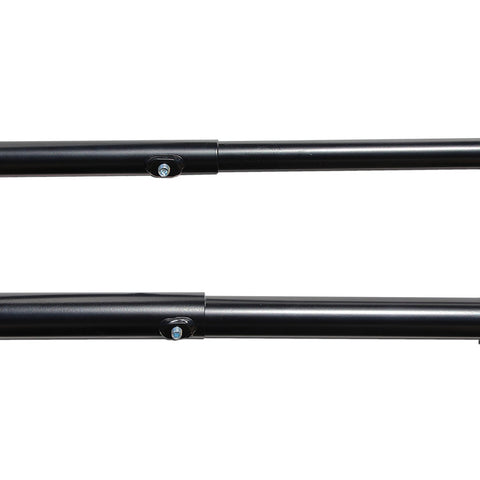 AA-Racks Adjustable Side bar with 30'' Short Over Cab. Extension for Basic 2 Bar Pickup Truck Rack - Black/ White (P39-SC-BX2)