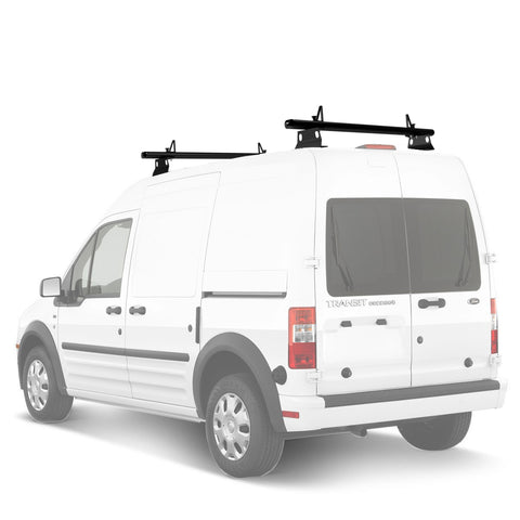 AA-Racks Aluminum Utility Van Roof Ladder Rack with Load Stop - (Fits: Ford Transit Connect 2008-13) (ADX32-TR)