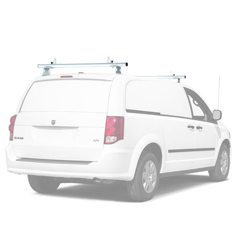 AA-Racks Universal Minivan Aluminum 50''/ 60''' Drilling Van Roof Rack with Load Stops - Black/ White (ADX32-50/60)