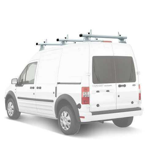 "AA-Racks Model AX302 Nissan NV200(2013-On) Aluminum 3 Bar (60"") Van Roof Rack System With Ladder Stopper White (AX302-60(3)-WHT-NV)"