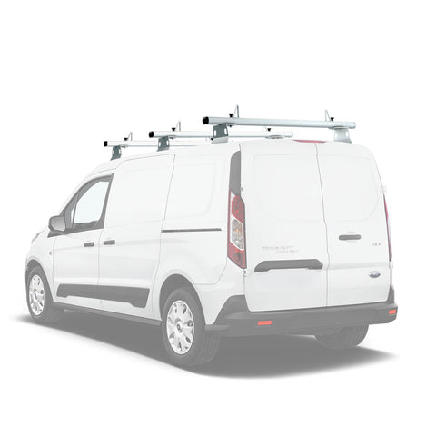 AA-Racks Aluminum Van Roof Ladder Rack with Load Stop Utility Cargo Carrier Rack (Fits: Transit Connect 2014-Newer) (AX302-TR(CN))