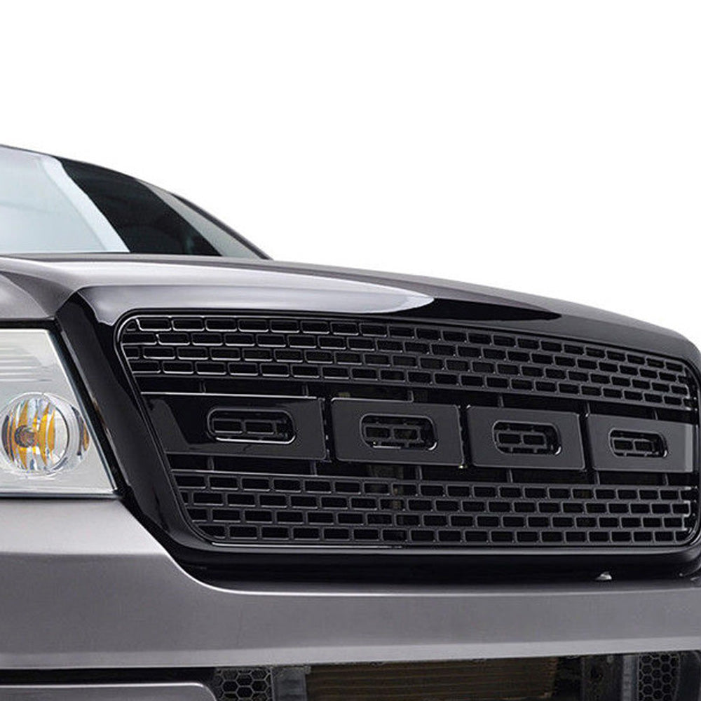 Aa Products 2004 2008 Ford F150 Front Grill Upper Grille Abs Replacement Raptor Mesh Style Fg F150 04 08 02 Blk