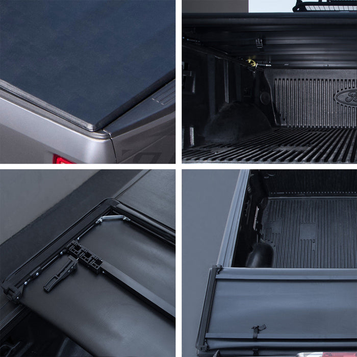 AA Products Soft Tri-Fold Truck Bed Tonneau Cover Compatible Dodge Ram 1500 (2019 Classic ONLY) 2009 up to 2019 | Fits 5.8' Bed | Without Ram Box (TC-ST-RAM1500-5.8(09-18) - AA Products Inc