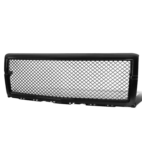 AA Products 2014-2015 Chevy Silverado 1500 Gloss Black Finished Front Grille Mesh Hood Bumper Grill Cover (FG-CS1500(14-15)-01-BLK) - AA Products Inc