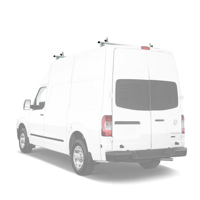 AA-Racks Aluminum Cross Bar Van Roof Rack System w/ Ladder Stopper (Fits: Nissan NV 2012-On) (AX312-NV) - AA Products Inc