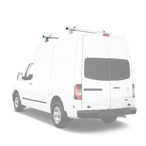 AA-Racks Aluminum 72'' Van Ladder Roof Rack System with Load Stop (Fits: Nissan NV) (AX302-NV)
