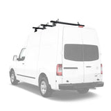 AA-Racks Model AX302-NV Nissan NV Aluminum 72'' Van Roof Rack System With Ladder Stopper (AX302-72-NV-Parent)