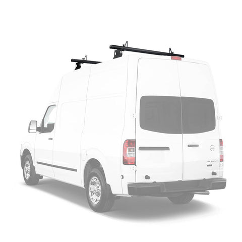 AA-Racks Aluminum 72'' Van Ladder Roof Rack System with Load Stop (Fits: Nissan NV) (AX302-72-NV)