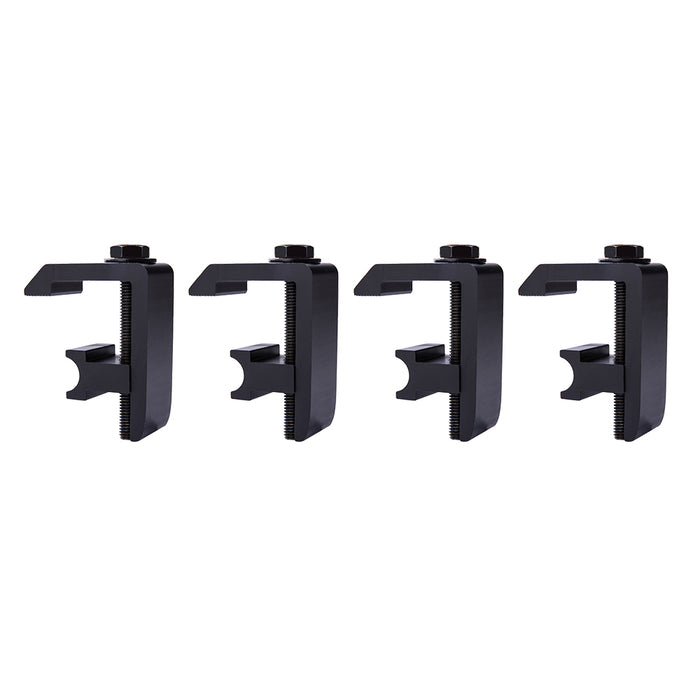 AA-Racks Utility Track System Mounting  Clamp for Toyota Tacoma/Tundra Truck Cap/Camper Shell, Set of 4 (P-AC-04) - AA Products Inc