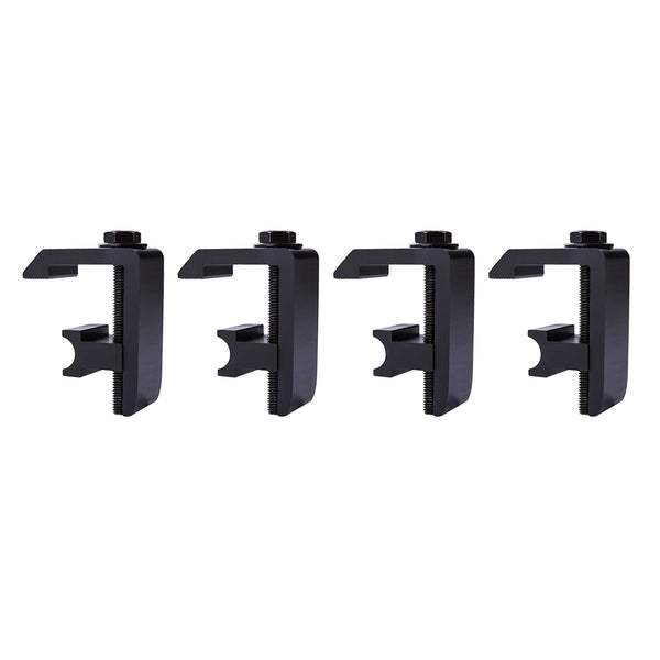 AA-Racks P-AC-04 Utility Track System Mounting  Clamp for Toyota Tacoma/Tundra Truck Cap/Camper Shell, Set of 4 (P-AC(4)-04-Parent)