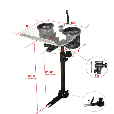AA Products Police Auto Laptop Mount Car Truck VAN SUV Vehicle Netbook Stand Holder With Non-Drilling Bracket (K005-A1)