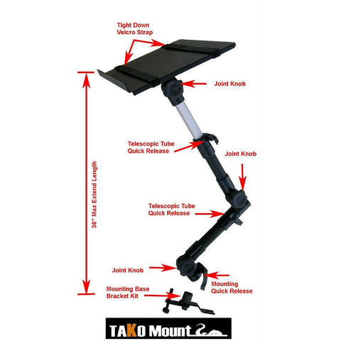 AA Products Automotive Truck Van Vehicle Car Laptop Notebook Mount Stand Holder (T-70N)