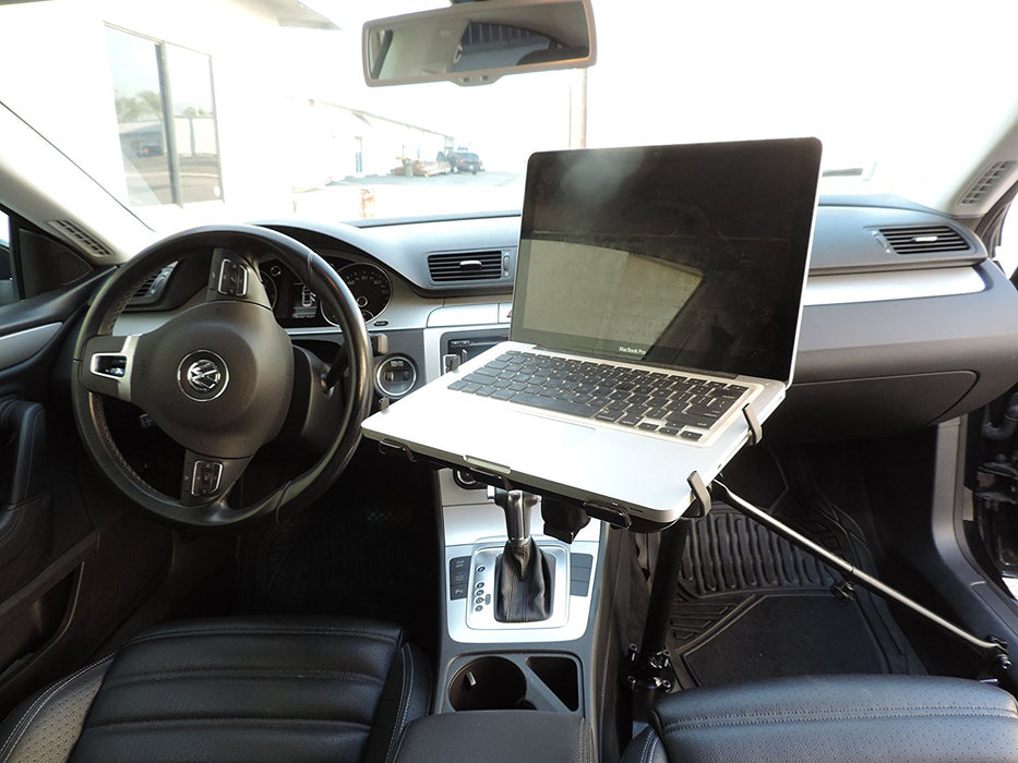 AA Products Car Laptop Computer Mount Stand with Adjustable Ball-Head (No Drilling Bracket and Aluminum Supporting Arm Included) (K002-AS) - AA Products Inc