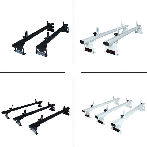 "AA-Racks Aluminum 60"" Universal Pickup Truck Topper Camper Shell Van Roof Rack with Load Stop Black/  White (ADX32-C) - AA Products Inc"