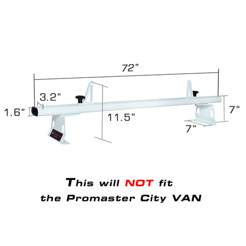 AA-Racks Aluminum Cargo Van Roof Ladder Rack with Load Stop (Fits: RAM ProMaster 2013-On) (AX302-PR) - AA Products Inc