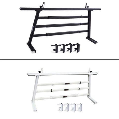 AA-Racks Aluminum Headache Rack Semi Pickup Truck Ladder Rack with Cross Bar Window Guard Protective Back Rack (Fits: Toyota Tacoma 2005-On) - (APX25-A-WG-TA) - AA Products Inc