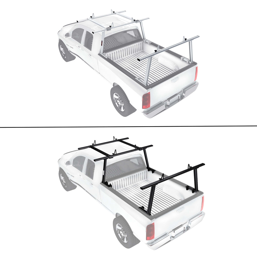 AA-Racks Adjustable Aluminum Pickup Truck Ladder Racks with Cantilever Extension - (APX25-E) - AA Products Inc
