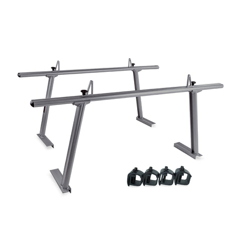 AA-Racks Model APX25 Extendable Aluminum Pick-Up Truck Ladder Rack (No drilling required)