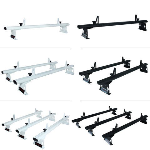 AA-Racks Aluminum Cargo Van Roof Rack with Load Stop Black/ White (Fits: Chevy City Express 2013-On) (AX302-CH)