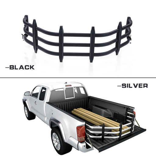 AA Products Aluminum Alloy Bed Extender, Strong Universal Pickup Truck Bed Extender w/ Bracket Kit (EX-A1) - AA Products Inc