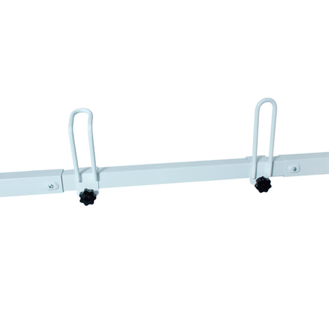 AA-Racks Universal Van Roof ladder Rack Adjustable Gutter Mount Rooftop Rack -White (X217)