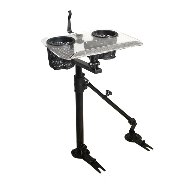 AA Products Universal Laptop Mount Stand Holder For Car With Non-Drilling Bracket and Supporting Arm Kit (K005-A3)