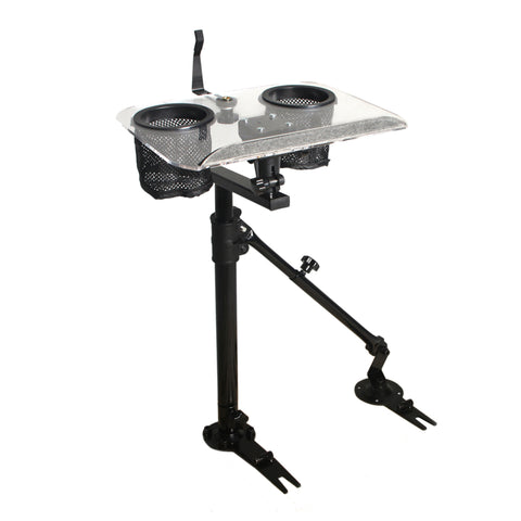 AA Products Laptop Mount Stand Holder For Car With Non-Drilling Bracket + Supporting Arm Kit