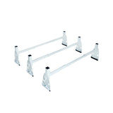 AA-Racks Model X317 HighTop 3 bar ladder roof rack Heavy Duty Rain-Gutter Van Roof Rack Round Bar Steel (X317-T-WHT)