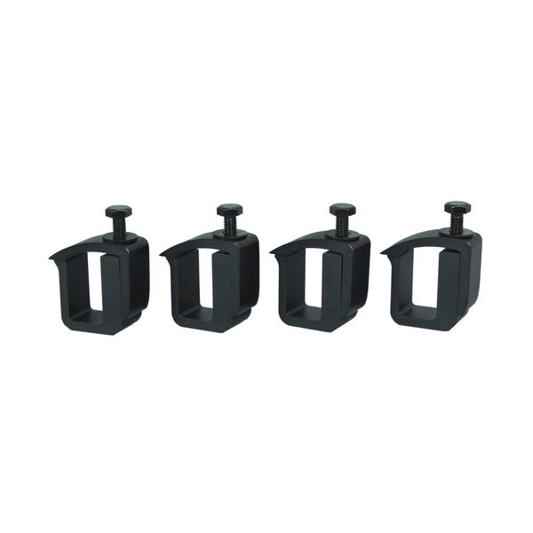 AA-Racks P-AC-02 Clamp for Truck Cap, Camper Shell, Topper for a Short Bed Pickup Truck (Set of 4),Black (P-AC(4)-02-BLK)