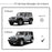 AA Products Circle Armor Kit for 2007-2018 Jeep Wrangler JK 4 Door Side Step Rails Nerf Bars Running Boards (RB-JK-4DR(07-18)-B2) - AA Products Inc