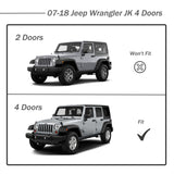 AA Products Hoop Style Running Boards Nerf Bars Side Step Rails for 2007-2018 Jeep Wrangler JK 4 Door (RB-JK-4DR(07-18)-A) - AA Products Inc