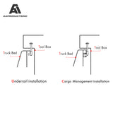 AA-Racks Mounting Clamps for Pickup Truck Toolbox Tie Down J-Hook Crossover (P-AC-07)