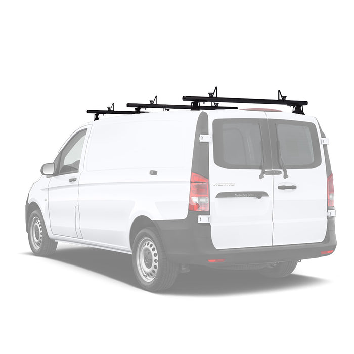 "AA-Racks Aluminum Van Roof Rack 60"" with Load Stop Black/ White (Fits: Mercedes Benz Metris 2014-On) (AX302-ME) - AA Products Inc"