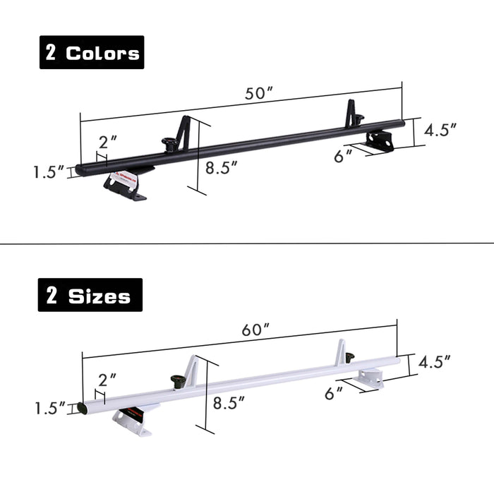 AA-Racks Aluminum Van Top Cargo Carrier Ladder Roof Racks (Fits: Nissan NV200 2013-On) (AX312-NV200) - AA Products Inc